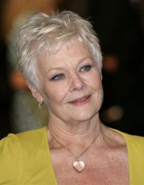 judy dench pixie crop haircut short hair over 40 judi dench s silver pixie style