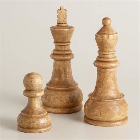 Chess Decor by Carved Wood Chess Decor World Market