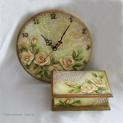 Decoupage Clock - 87 best decoupage clock images on clock faces