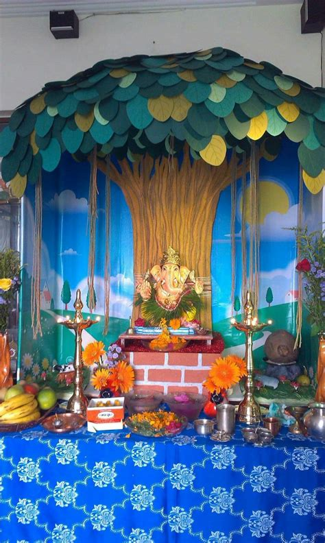 images  ganpati decorations  pinterest