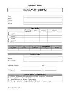 sick form template leave application form freewordtemplates net