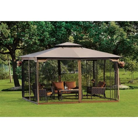 10 X 12 Patio Gazebo Exceptional Outdoor Screened Gazebo 8 10 X 12 Regency Ii Patio Gazebo With Mosquito Netting