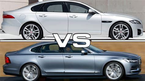jaguar vs jaguar xf vs volvo s90