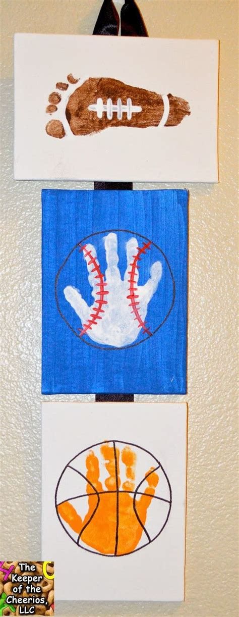 sports crafts for sports footprints and prints the keeper of the