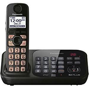 Best Seller Wireless Panasonic Kx Tg2511 Black panasonic kx tg4741b dect 6 0 cordless phone with answering system black 1