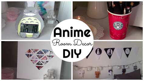 Anime Decor Anime Inspired Room Decor Diy Ita Chibiistheway Youtube