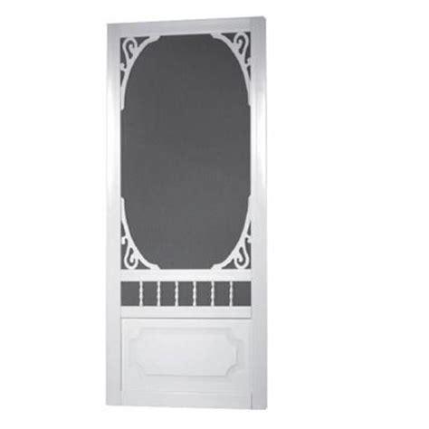 solid vinyl screen doors screen tight 36 in x 80 in belle harbour solid vinyl