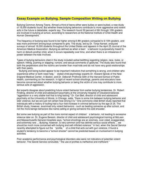 essay   bullying bullying school shooting