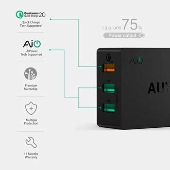 Charger Aukey Charger 30 18w Smart Fast Charging Qualcomm product name aukey charge 2 0 usb wall charger 3