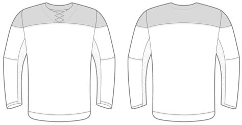 ai nike hockey jersey template illustrator file