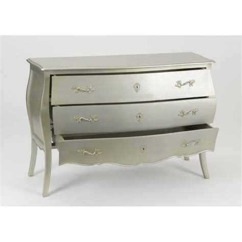 Commode Argent by Commode 224 Tiroirs Murano 120 Cm En Acajou Patin 233 Silver