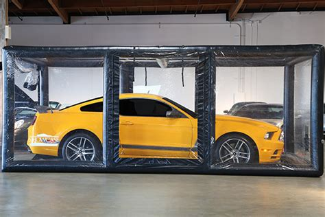 carcapsule showcase indoor vehicle storage system show