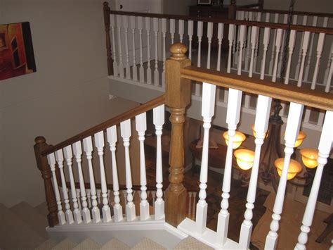 black camel painting stair railing
