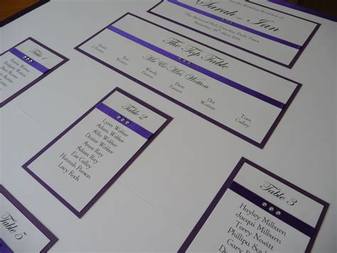 ivory and cadbury purple wedding invitations 177 best table seating plans images on bridal