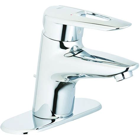 grohe bathroom sink faucet shop grohe sway starlight chrome 1 handle single