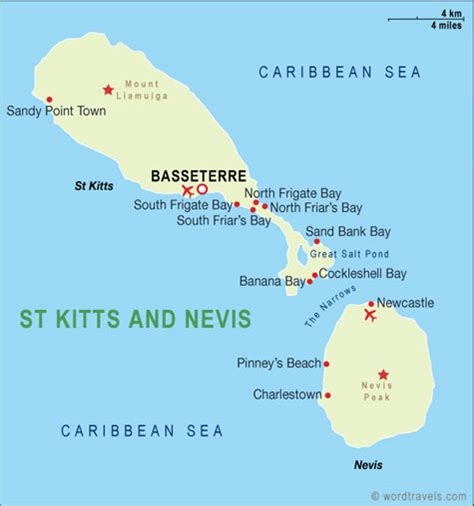 st kitts and nevis map uniglobe travel m 233 xico centroam 233 rica y caribe
