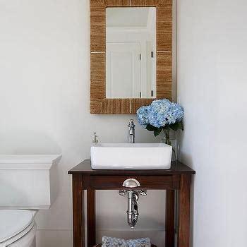 The Brick Vanity Table Repurposed Sink Console With Brick Herringbone Pavers Cottage Bathroom