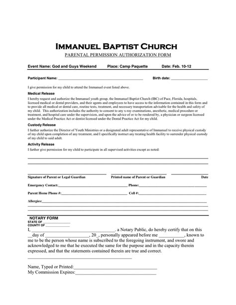 c permission slip template permission slip template in word and pdf formats