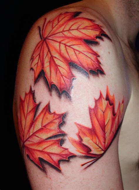 fall leaves tattoo leaf tattoos and designs page 11
