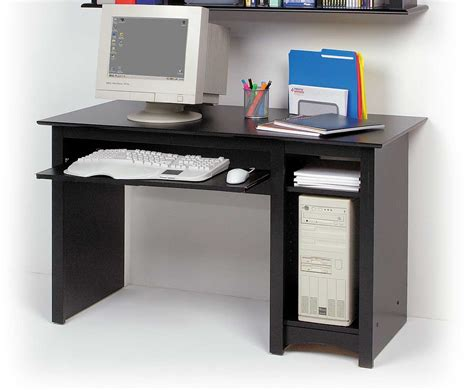 Build A Small Desk Modern Computer Desk With Glass Table Contain Lighting Installation Also Large Monitor