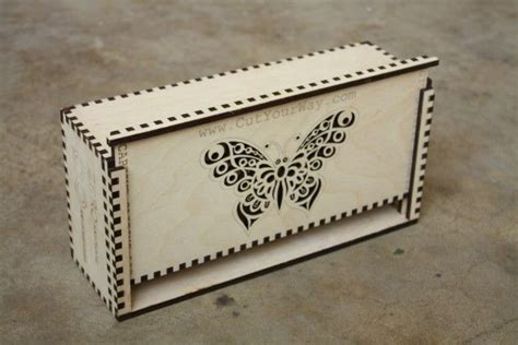 Custom Laser Cut Finger Jointed Boxes Pinterest Custom Boxes Laser Cutting And Box Laser Cut Box With Lid Template