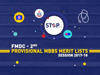 Provisional Merit List 2017 Mba by Fmdc 2nd Provisional Mbbs Merit Lists Session 2017 18