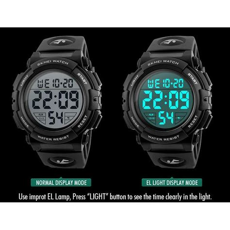 Jam Tangan Pria Sporty Digitec 1 skmei jam tangan sporty pria dg1258 black gold jakartanotebook
