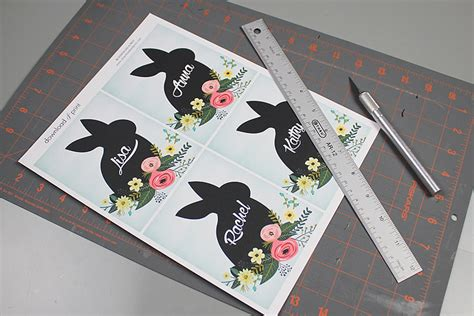 easter place card template diy easter name place cards