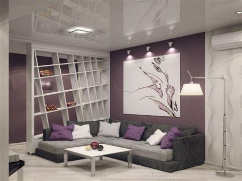 graues wohnzimmer wohnzimmer grau lila