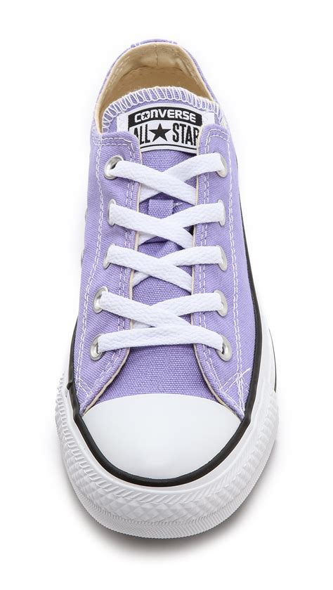 lavender sneakers lyst converse low top ox sneakers lavender in purple