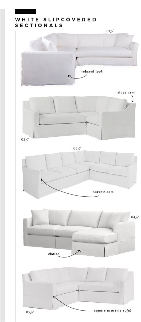 White Slipcovered Sectional Sofa How We Choose White Slipcovered Sofas Room For Tuesday