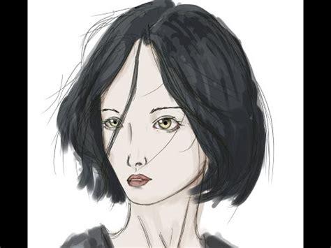 anime semi speedpaint of semi realistic anime girl on android youtube
