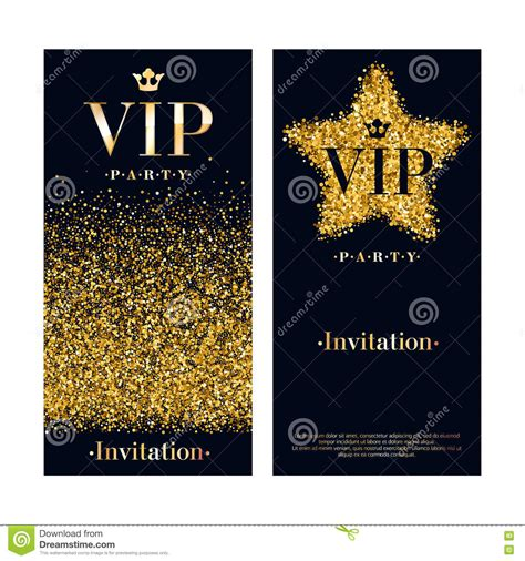 Vip Invitation Card Premium Design Template Stock Vector Illustration Of Crown Decoration Vip Birthday Invitations Templates Free