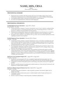 Resume For Anesthetist Resume Past Present As A Crna