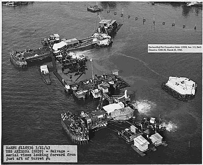 boat salvage yards az us navy uss arizona bb39 salvage