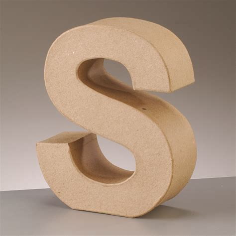 Paper Mache Craft Letters - paper mache large cardboard letters signs 3d craft 17
