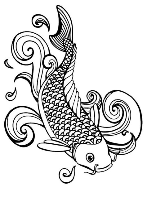 printable coloring pages koi fish koi fish coloring pages for adults free printable koi