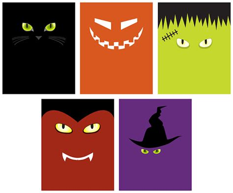 printable halloween decorations for free the petite pear blog minimalist halloween faces printable