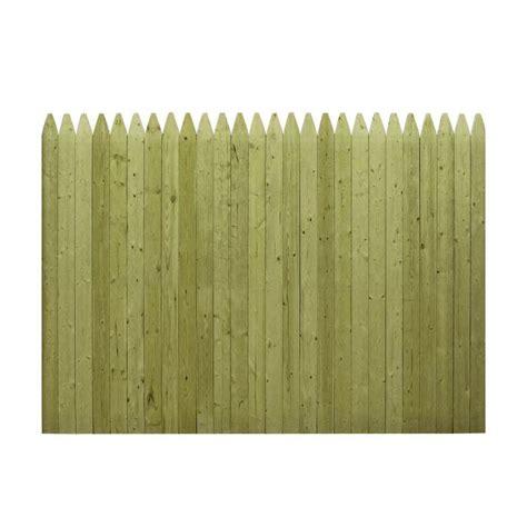 6 ft x 8 ft pressure treated pine ear stockade fence