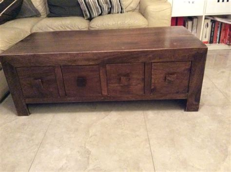 solid wood 8 drawer coffee table for sale in wicklow town