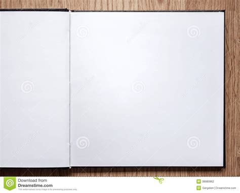 best blank sketchbook 8 5 x 11 inches sketch draw and paint books blank notebook opened on wood background stock photo