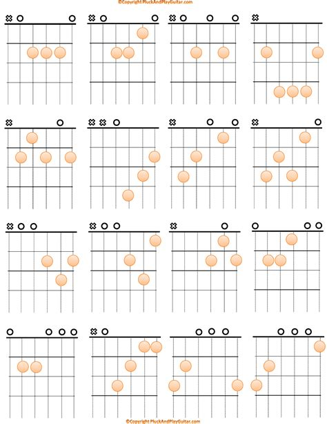 acoustic guitar chord chart acoustic basic guitar chord chart for free