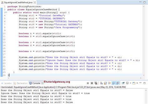 pattern java ignorecase java string equalsignorecase method