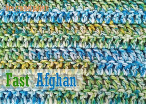 crochet pattern quick afghan free crochet pattern fast afghan