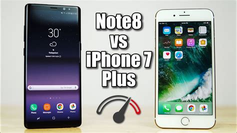 galaxy note 8 vs iphone 7 plus speedtest comparison fruit or bot