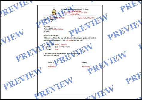 contoh surat undangan rapat osis smk kumpulan surat penting