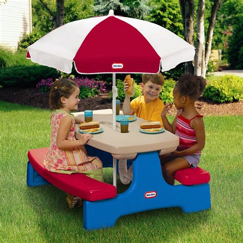 tikes easy store large picnic table with umbrella tikes easy store large picnic table with umbrella