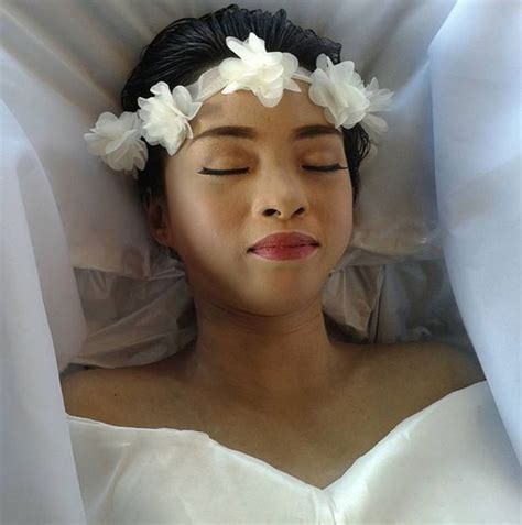 filipino artist with their hair short tragic woman 20 plans her own funeral so she can fulfil