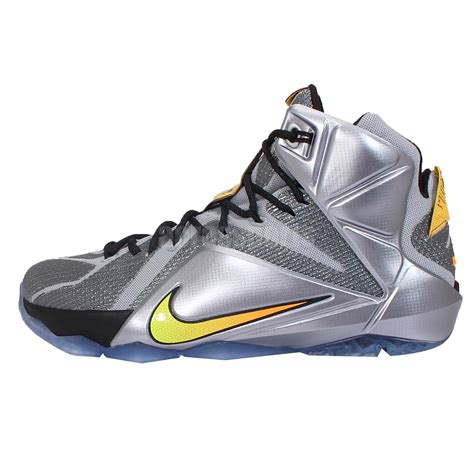 silver basketball shoes nike lebron xii ep 12 flight lebron silver orange