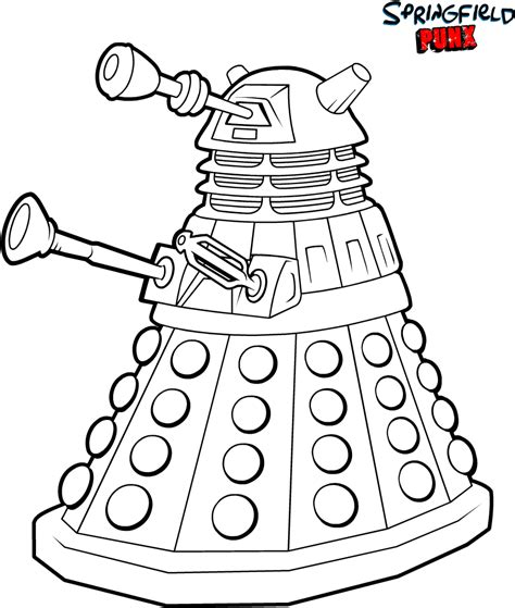 Free Coloring Pages Of Doctor Who Dalek Doctor Who Coloring Page